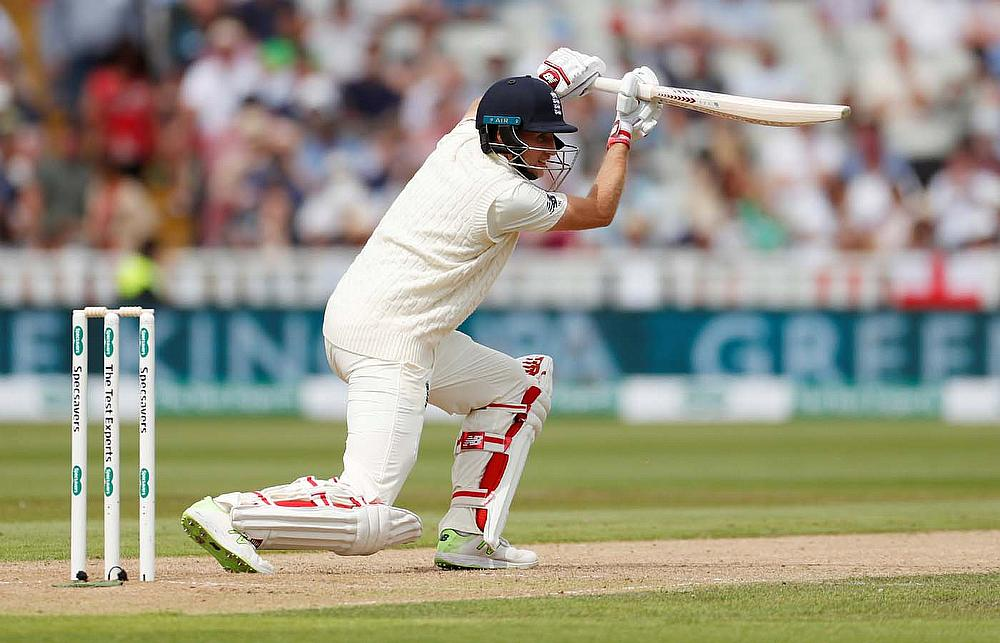 England v India - First Test Joe Root in action