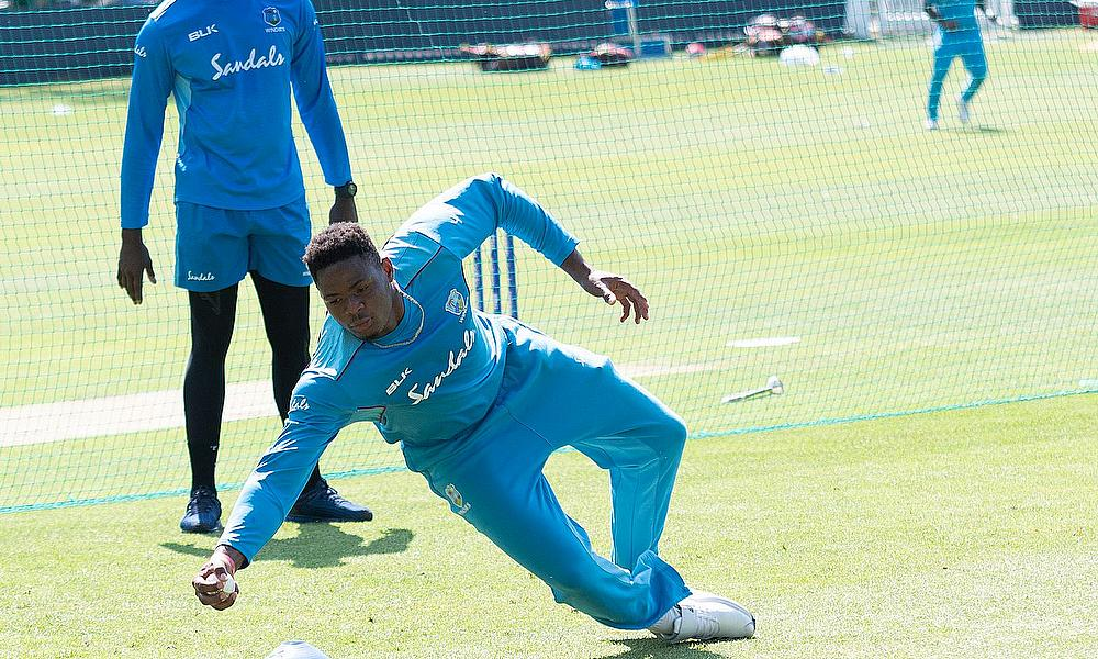 West Indies training session photos from Bath Cricket Cub today