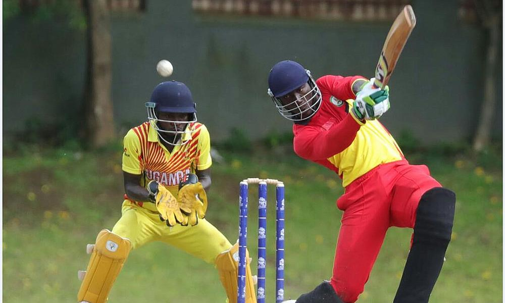 Ghana batsman James Vifah hits out against Uganda