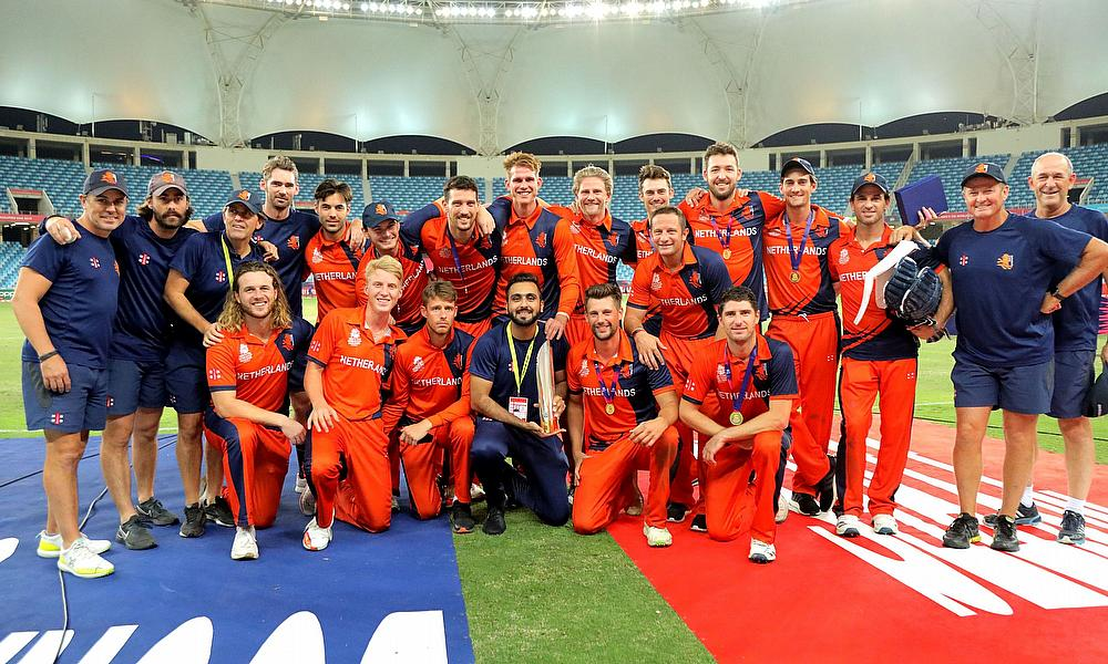 Netherlands Team champions of ICC T20 World Cup Qualifier