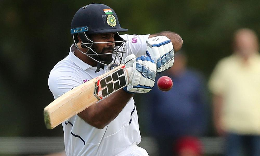 India's Hanuma Vihari in action during the match