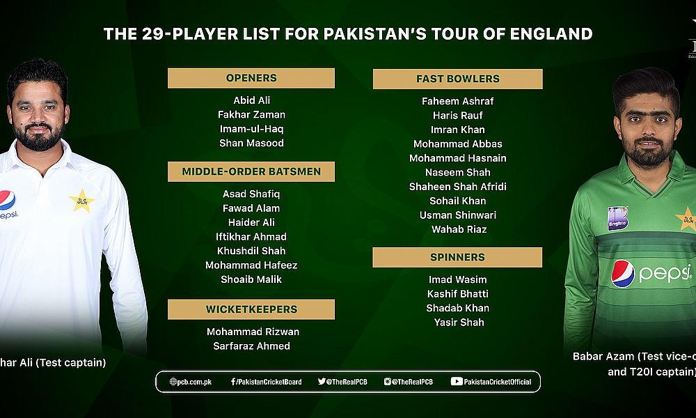 Haider Ali Named In 29 Player Squad For England Tour