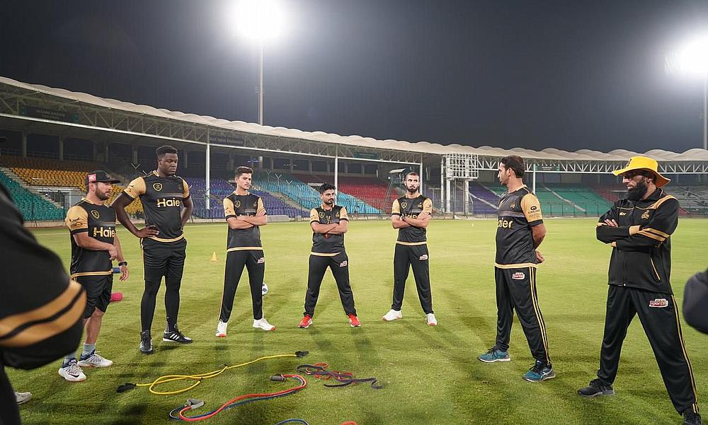 Peshawar Zalmi  team training