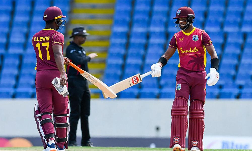 Evin Lewis and Shai Hope